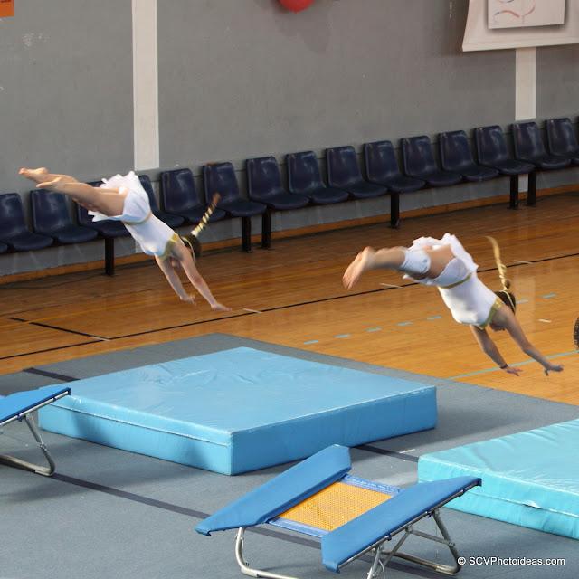 Rhythmic Acrobatic Gymnastics - synchronized jump