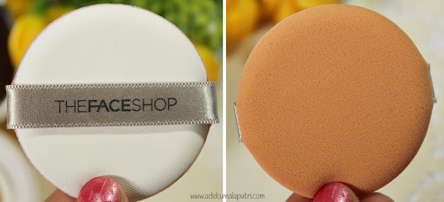 THEFACESHOP Oil Control Water Cushion Review - sponge