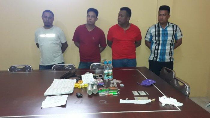 Memalukan ! Tiga Oknum Polisi Ditangkap Lagi Pesta Sabu