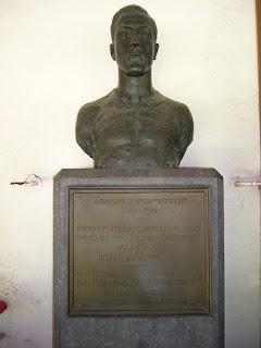 Busto de Pichichi situado en el palco de San Mamés