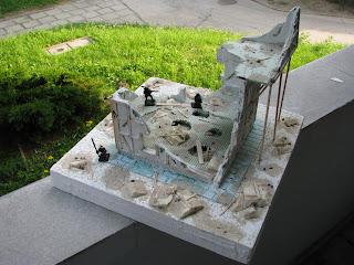 makieta do gier bitewnych budynek