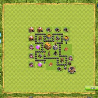Base Clan War TH4 1