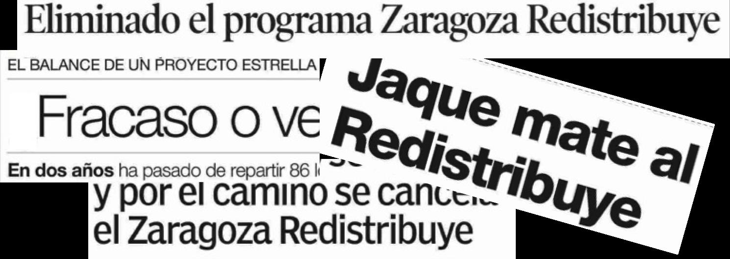 Zaragoza Redistribuye, servicios sociales Zaragoza
