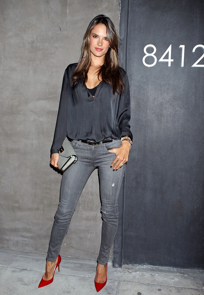 Alessandra Ambrosio attends the NARS 8412 Melrose Boutique Opening VIP Party