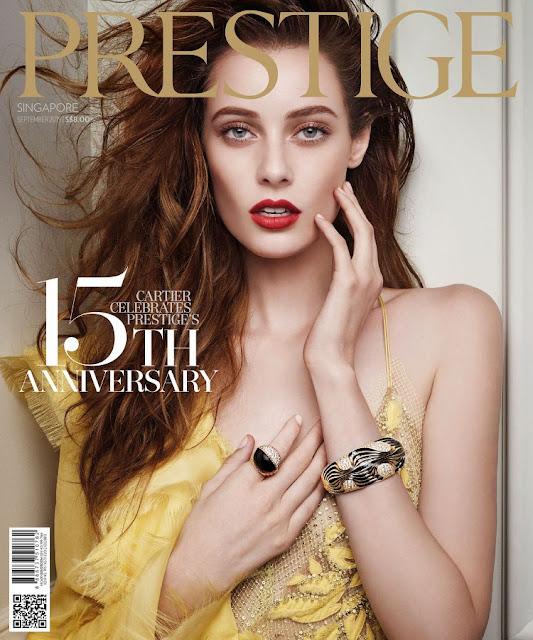Model @ Thairine Garcia - Prestige Singapore, September 2015
