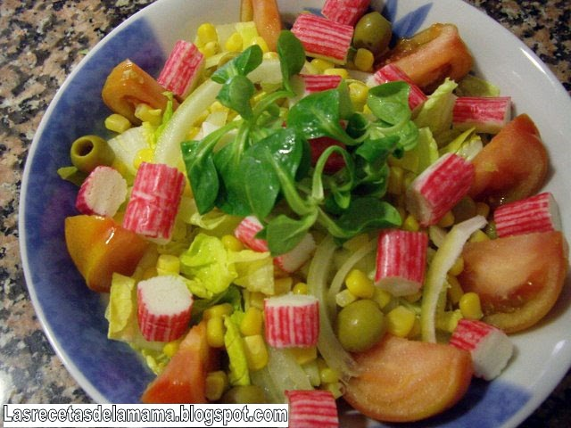 Las recetas de la mam receta de ensalada de palitos de mar - Superchef cf100 ...