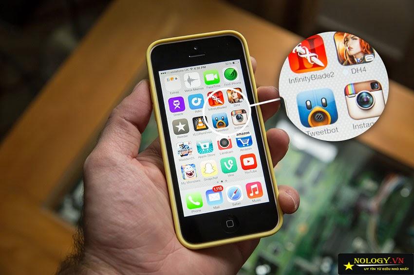 Giao diện màn hình iPhone 5C