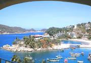 Acapulco caleta beach in acapulco mexico