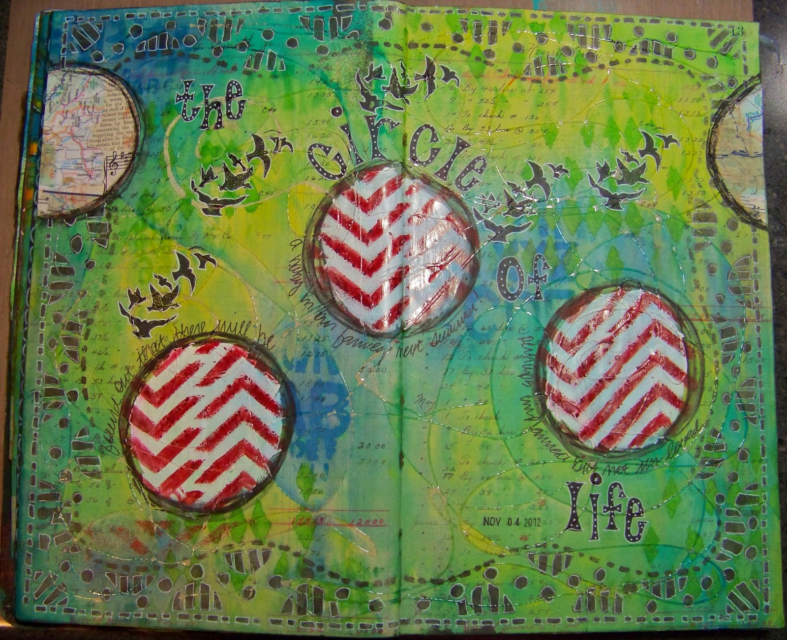 ellen vargo designs: Circle of Life - Ledger Journal Page