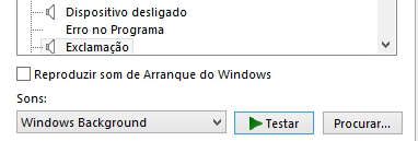 Como mudar os sons do Windows