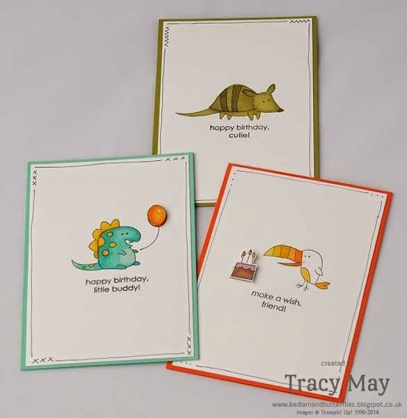 stampin up uk independent demonstrator Tracy May little buddies coloured with blendabilities