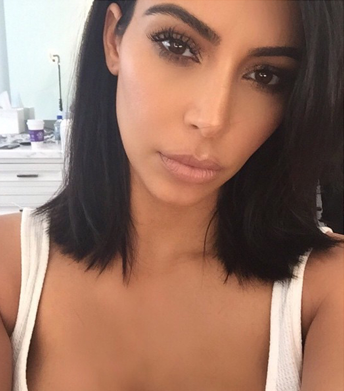 Kim Kardashian debuts a shorter hairdo on Instagram