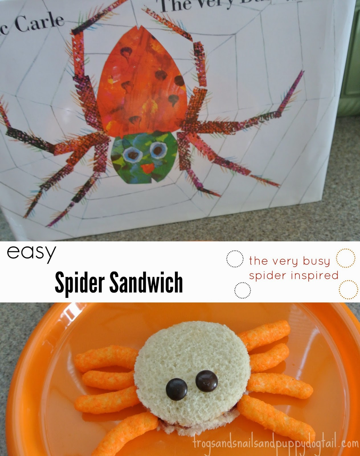 The Very Busy Spider book with snack  and simple activity