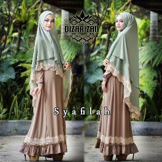 Baju Muslim Modern Warna Putih Syafilah Syar By Dizarizan