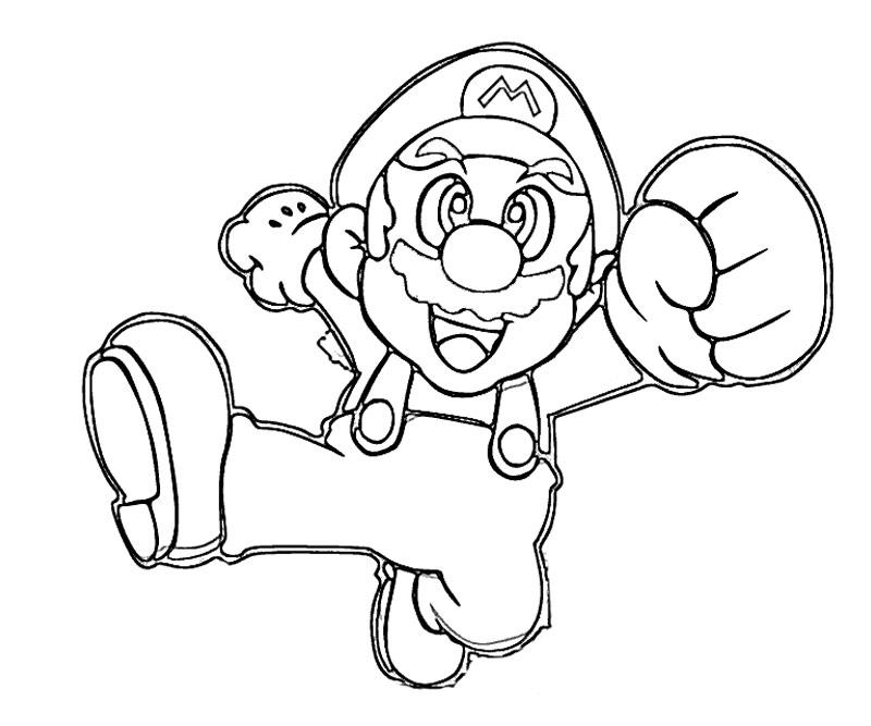 #10 Super Mario Coloring Page