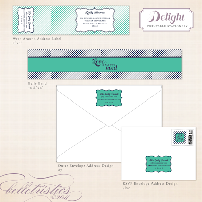 fun modern stripe printable invitation design