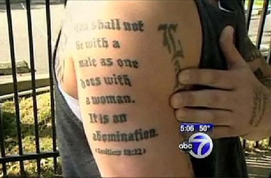 From the cab religion 2 for Leviticus on tattoos