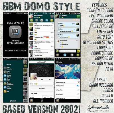 BBM Mod Domo Style V2.8.0.21 Apk