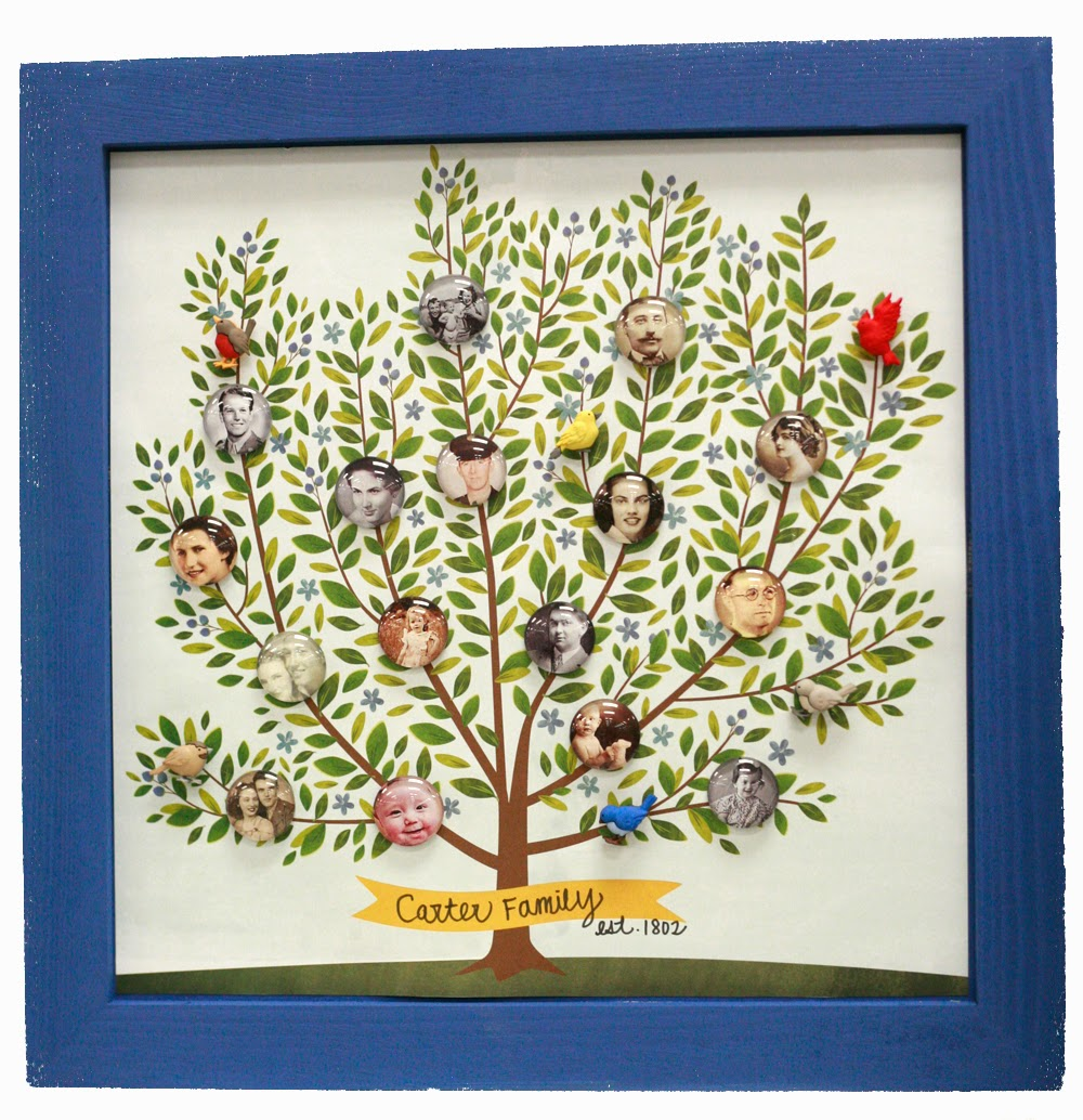 Ben Franklin Crafts and Frame Shop: Create Your Family Tree Wall Art