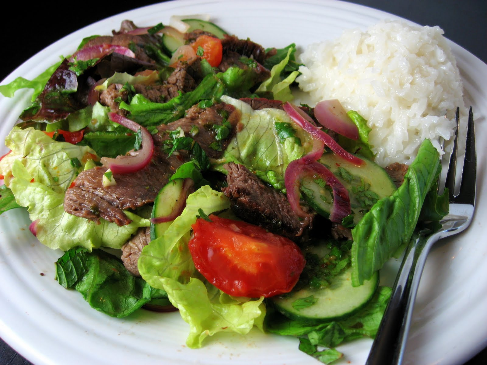 Robyn Cooks: Thai Beef Salad with Coconut Rice