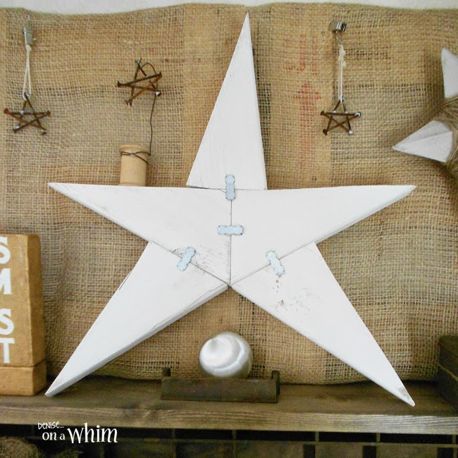 Rusty Nails and Wood Scrap Stars | Denise on a Whim