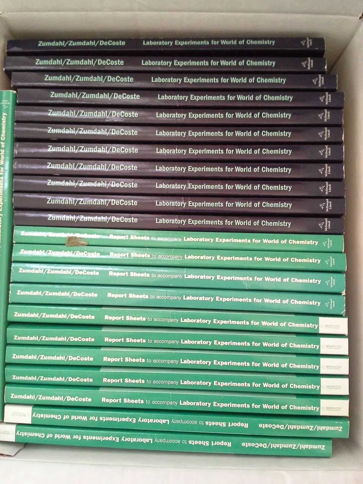 Chemistry laboratory books