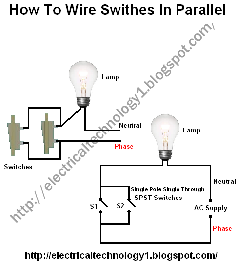 how to wire switches in parallel