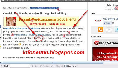 Membuat Hujan Bintang JRocks di Blog