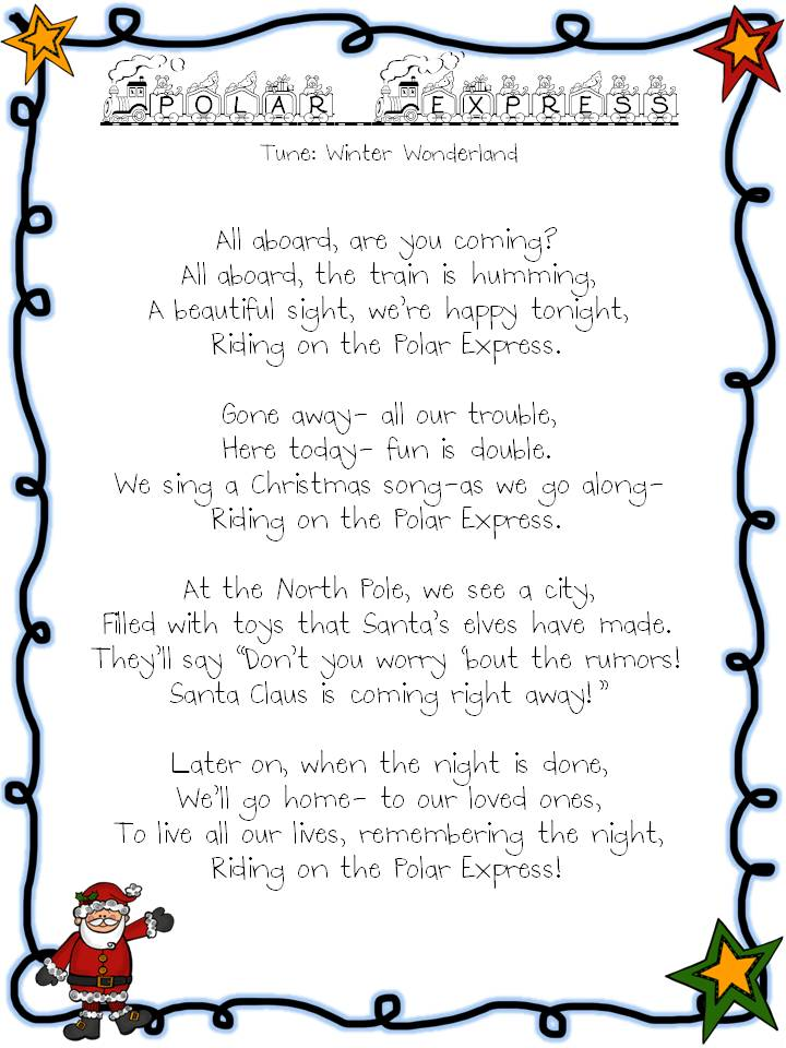 Lyric polar express lyrics : Heather's Heart: December 2012