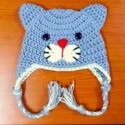 Crochet Kitty hat