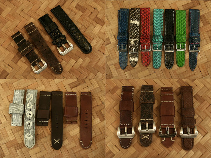 (For Sale) Genuine Leather Strap (Calf, Snake and Lizard) 18-19-20-22-24-26mm