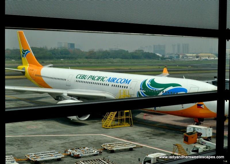 Cebu Pacific aircraft at Ninoy Aquino International Airport in Manila