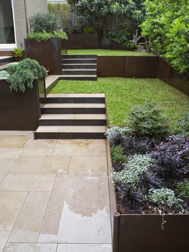 How to build a garden stairs design as a decorative element for Exterior design landscaping