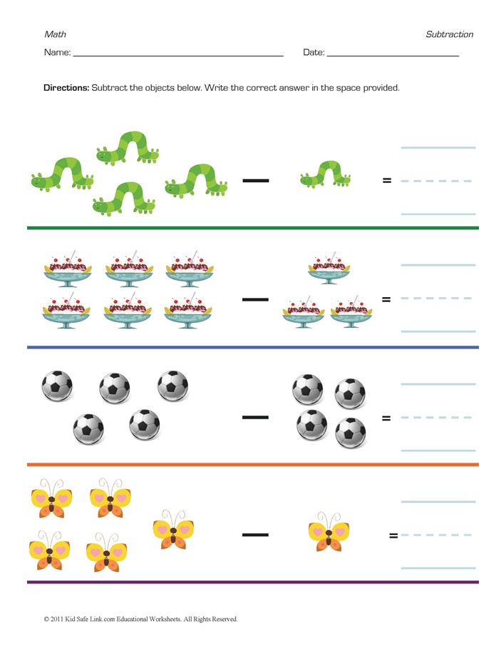 Miss Niveen's Blog: Picture subtraction worksheets