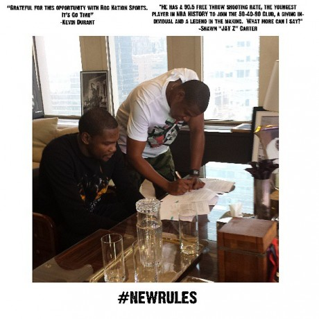 Jay Z signs Kevin Durant to Roc Nation Sports