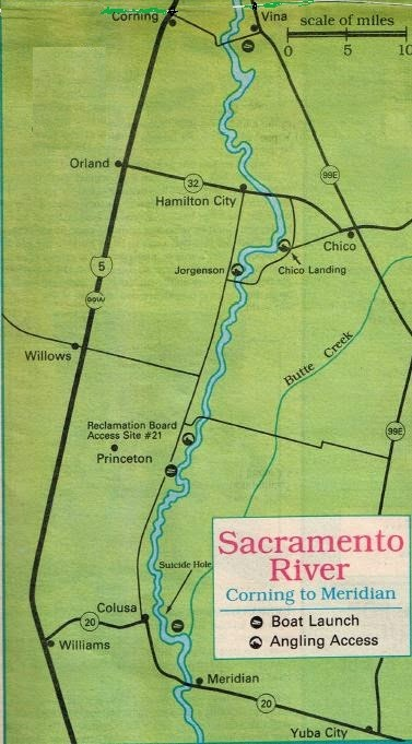 2017 sacramento river salmon fishing map and fishing for Sacramento river fishing