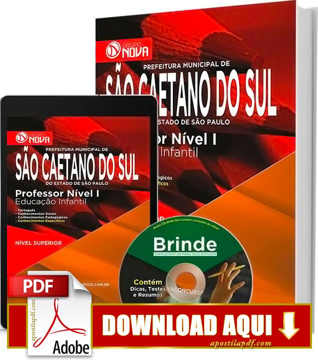 Apostila Prefeitura de São Caetano Professor de Educação Infantil PDF Download Grátis