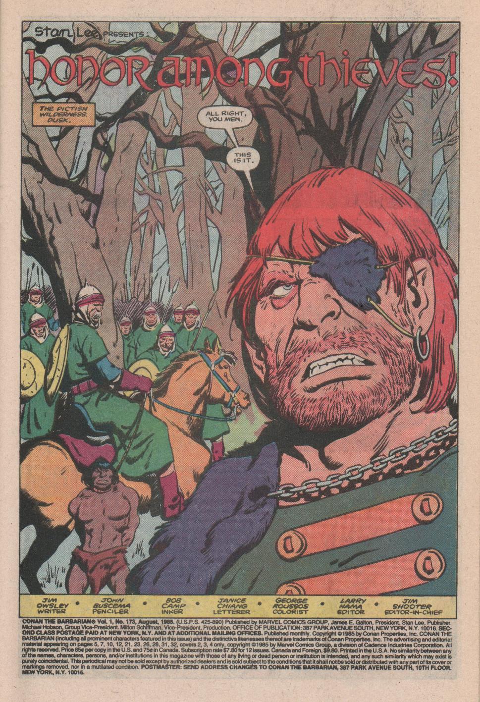 Conan the Barbarian (1970) Issue #173 #185 - English 2