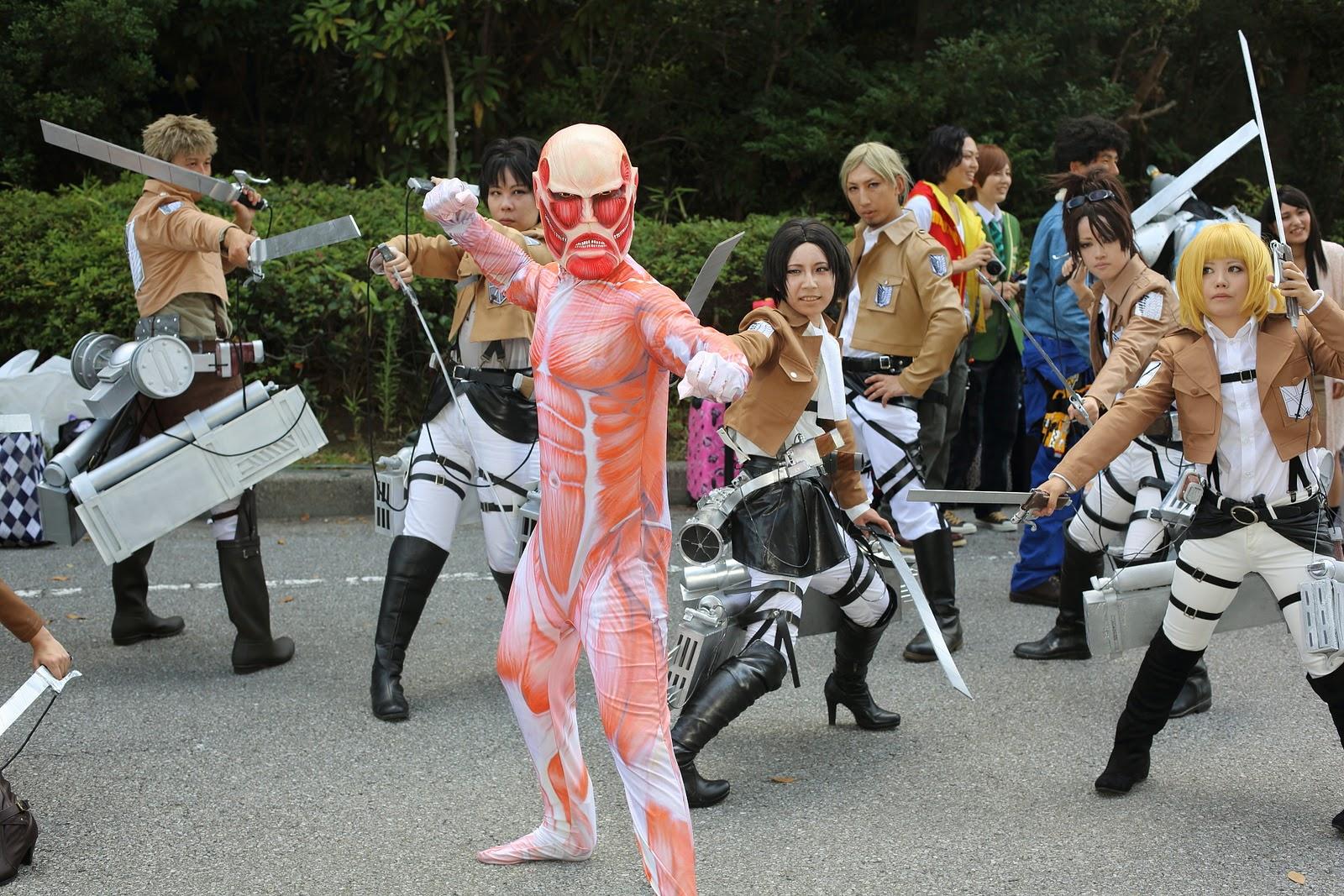 cosplay grupal shingeki no kyojin