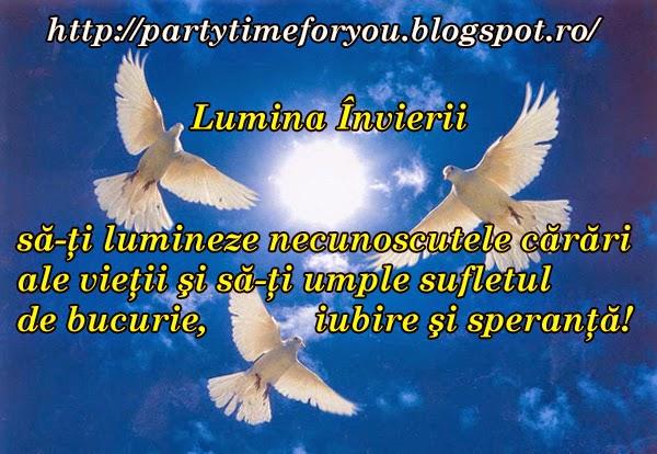 Lumina Învierii să-ţi lumineze necunoscutele cărări ale vieţii şi să-ţi umple sufletul de bucurie ,iubire şi speranţă!