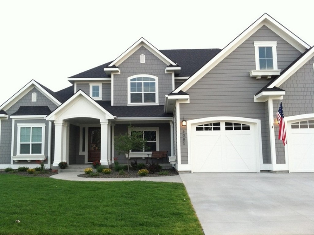 Best gray exterior paint colors home design for Exterior house paint schemes