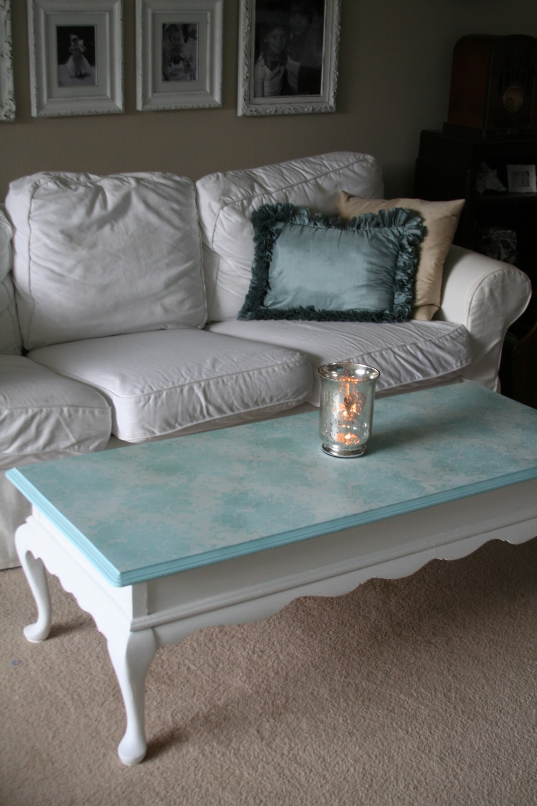 For the love of white chalk paint coffee table project thursday october 27 2011 geotapseo Choice Image