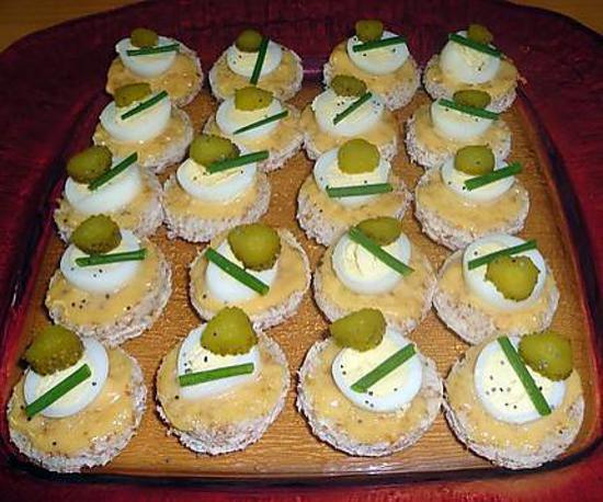 Sos recette canap s aux oeufs de caille for Cailles sur canape