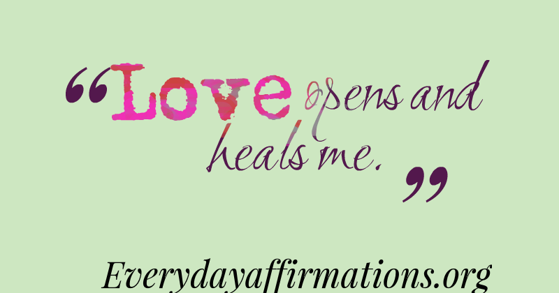 affirmations for the heart chakra