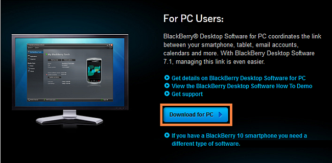 blackberry desktop download software