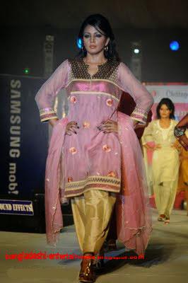 Bangladeshi fashion show model