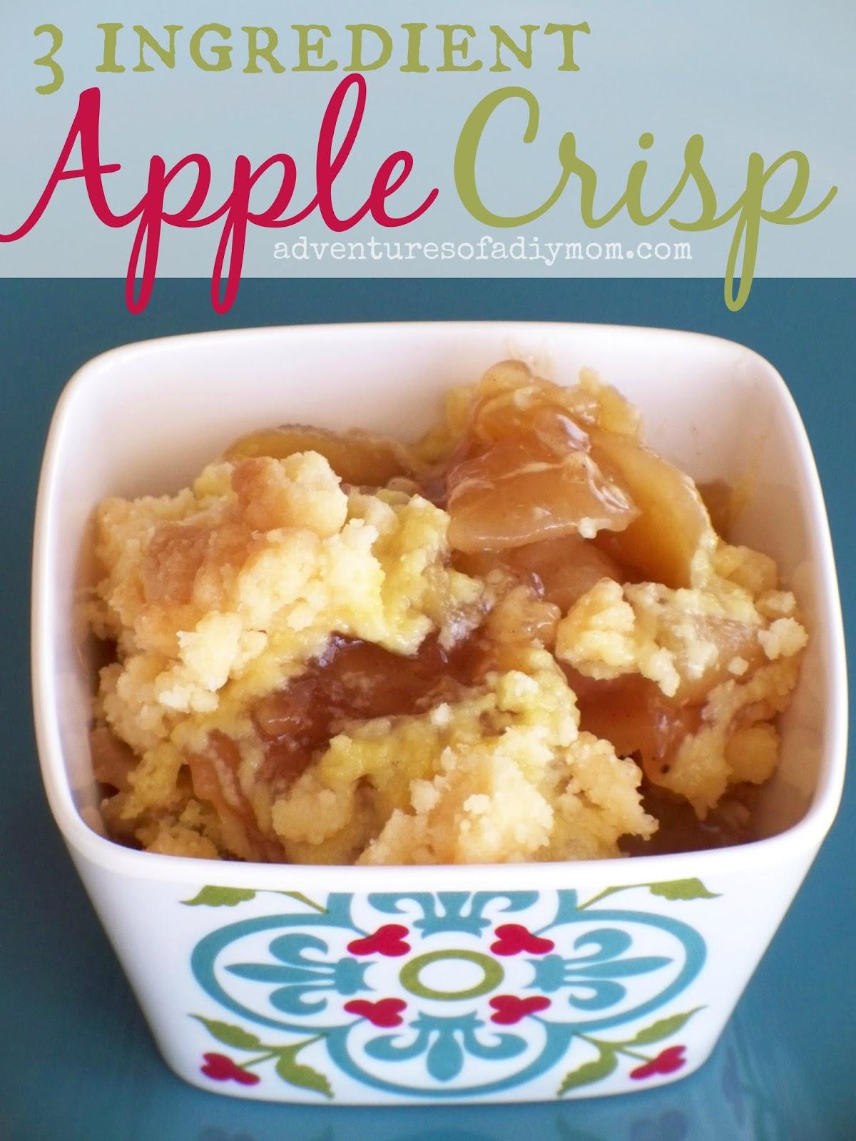 3 Ingredient Apple Crisp
