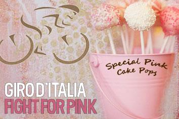 cake pops rosa per il giro d'italia/pink cake pops for the giro d'italia