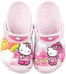 GAMBAR HELLO KITTY SLOPE - SANDAL HELLO KITTY