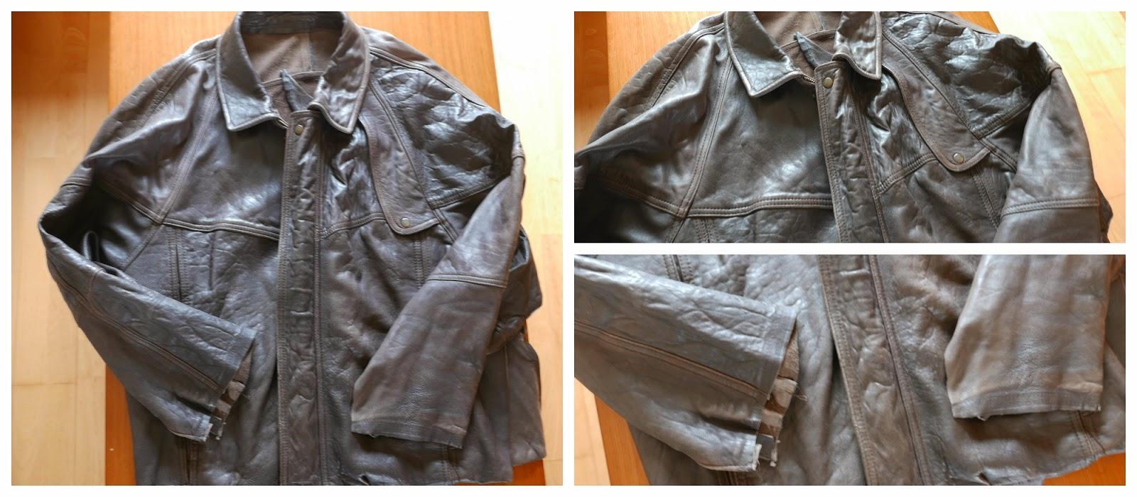 Reto de costura  en una chaqueta de cuero